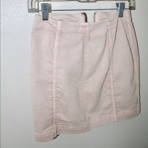 Free people size 0 pink skirt